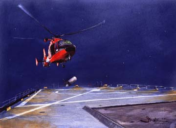 USCG Helicopter on the Gallitan